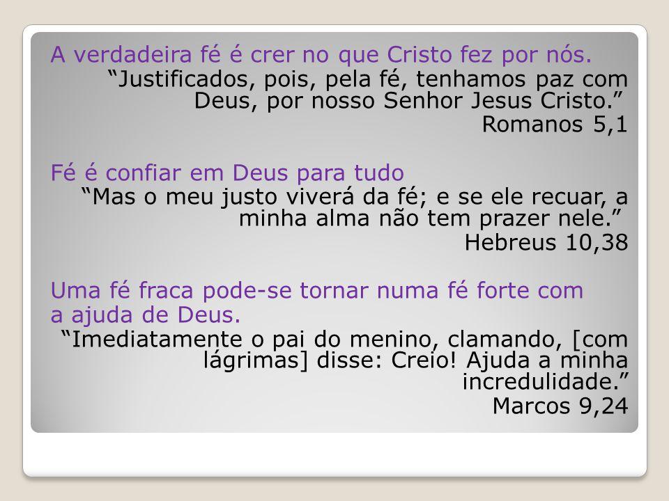 A verdadeira fé é crer no que Cristo fez por nós.