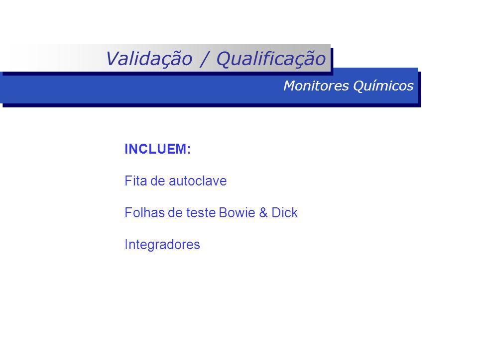 INCLUEM: Fita de autoclave Folhas de teste Bowie & Dick Integradores Monitores Químicos Validação / Qualificação