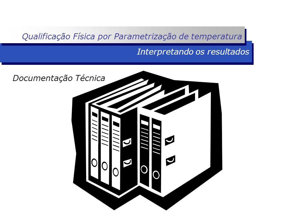 Interpretando os resultados Documentação Técnica Qualificação Física por Parametrização de temperatura