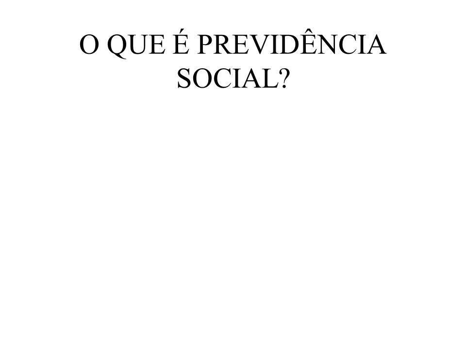 O QUE É PREVIDÊNCIA SOCIAL?