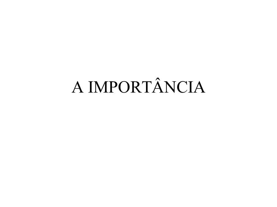 A IMPORTÂNCIA