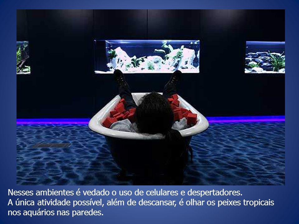 Nesses ambientes é vedado o uso de celulares e despertadores.