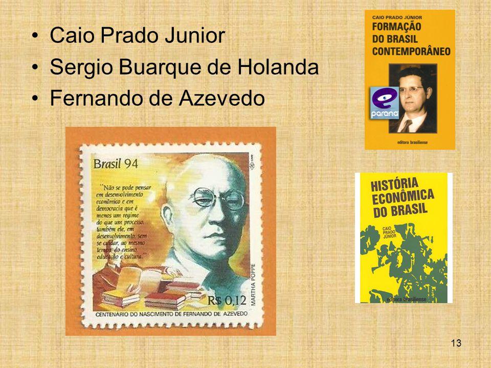 Caio Prado Junior Sergio Buarque de Holanda Fernando de Azevedo 13