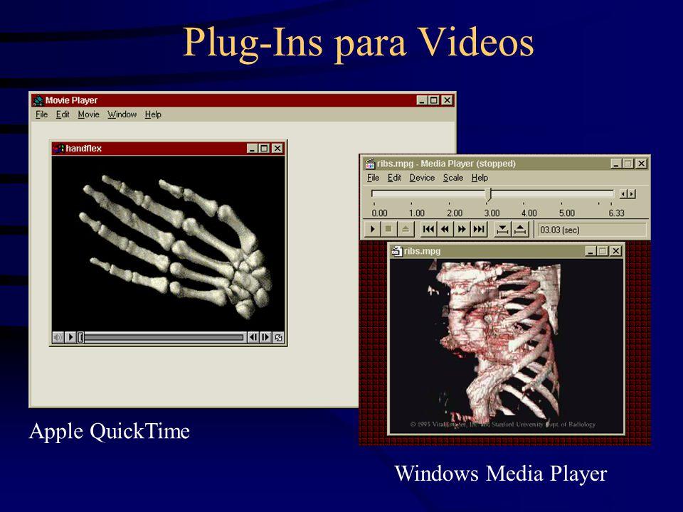 Plug-Ins para Videos Apple QuickTime Windows Media Player