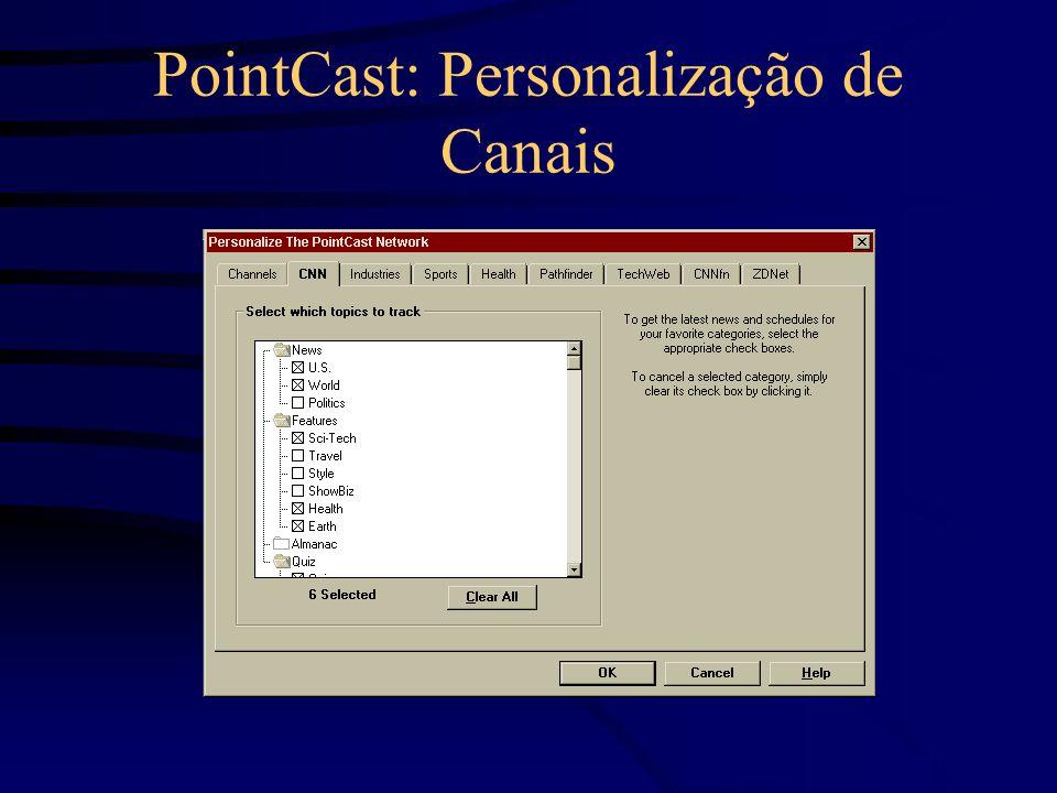 PointCast: Personalização de Canais