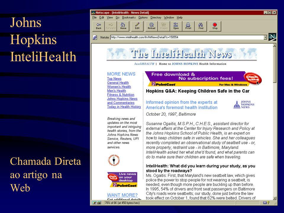Chamada Direta ao artigo na Web Johns Hopkins InteliHealth