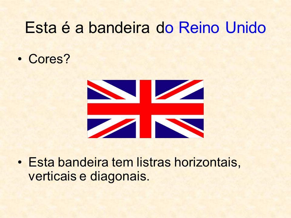 Esta é a bandeira do Reino Unido Cores.