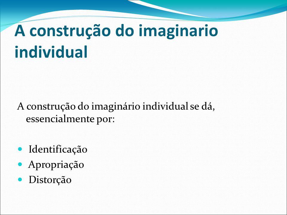 A construção do imaginario individual A construção do imaginário individual se dá, essencialmente por: Identificação Apropriação Distorção