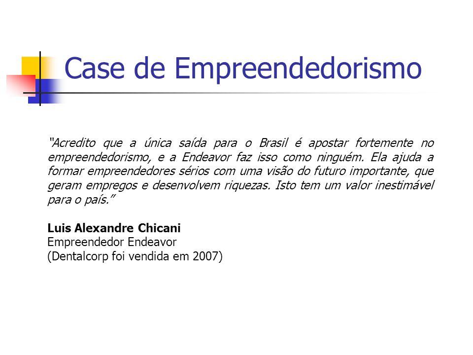 Case de Empreendedorismo Acredito que a única saída para o Brasil é apostar fortemente no empreendedorismo, e a Endeavor faz isso como ninguém.