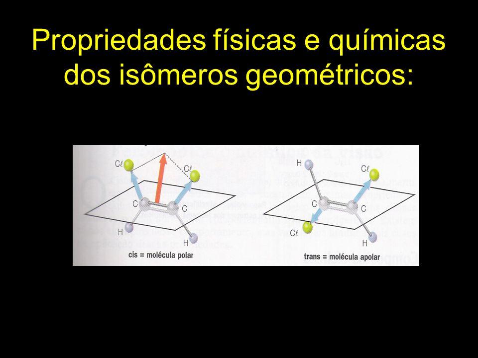 Propriedades físicas e químicas dos isômeros geométricos: