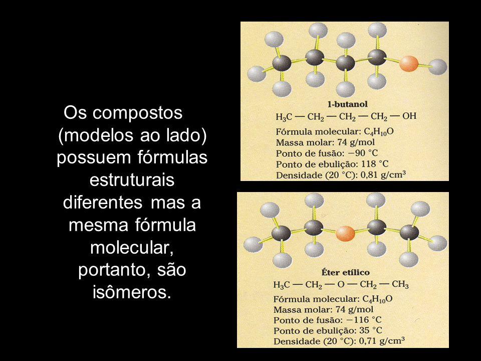 Ácido maleico: (isômero cis) Maior solubilidade em água (molécula polar); Menor ponto de fusão (as ligações de hidrogênio intramoleculares diminuem o número de ligações de hidrogênio intermoleculares).