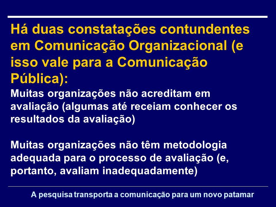 A avaliação é um requisito básico do planejamento em comunicação Mas quem efetivamente planeja.