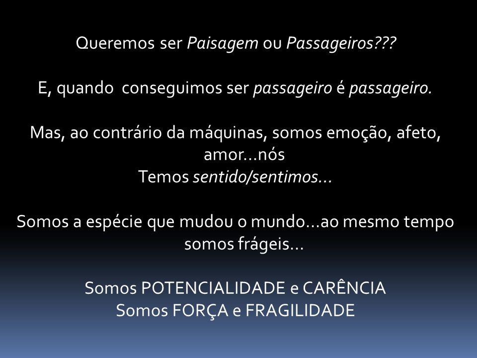 O que é GESTÃO??. Queremos ser Paisagem ou Passageiros??.