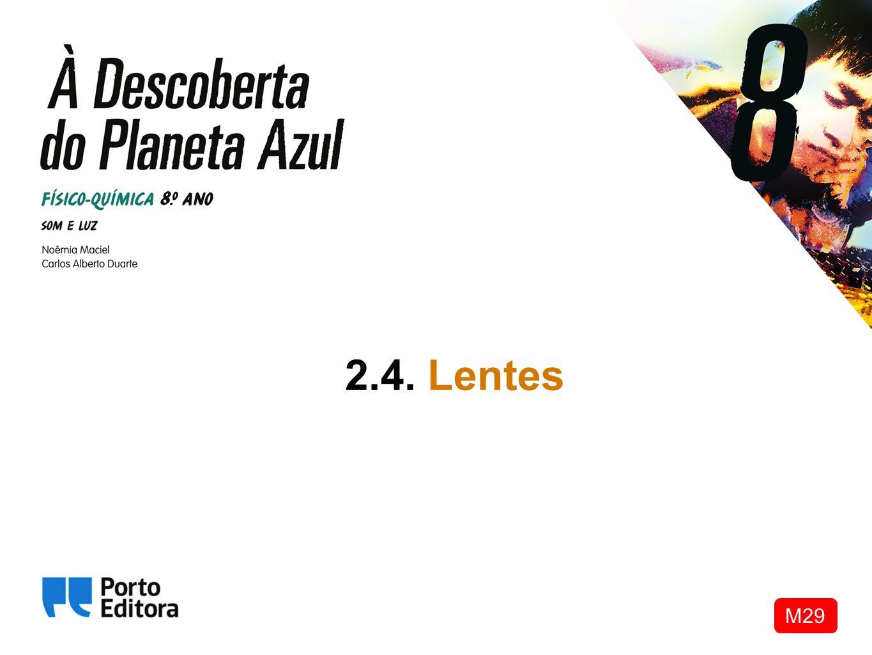 Lentes convergentes e divergentes As lentes são meios óticos transparentes limitados por duas superfícies curvas ou por uma superfície curva e outra plana.