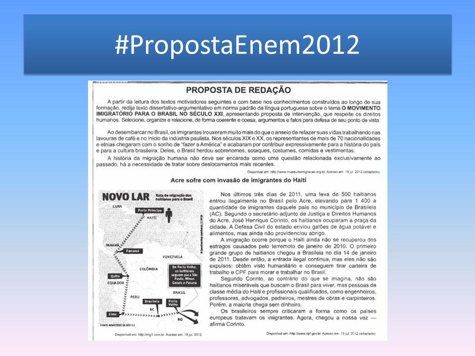 #PropostaEnem2012