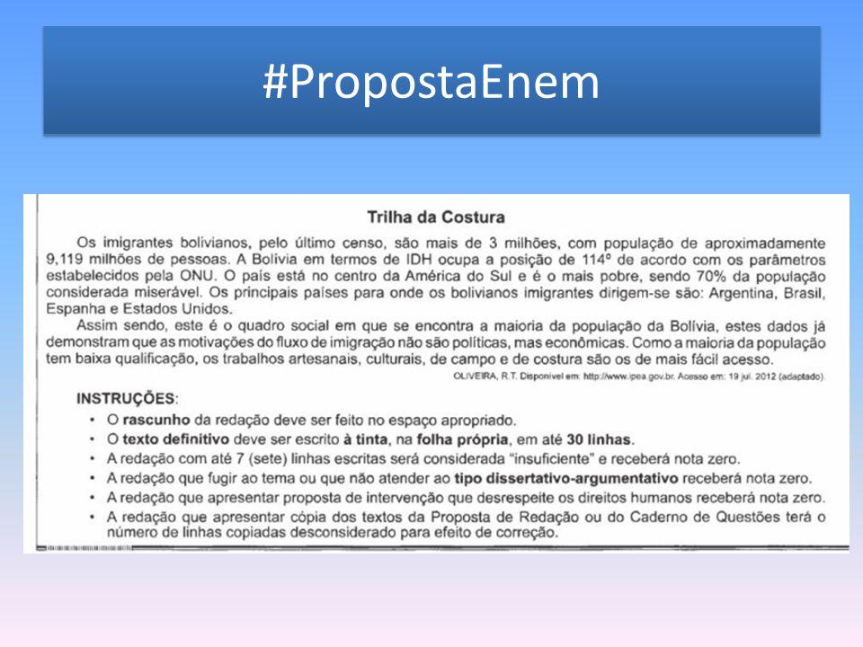 #PropostaEnem