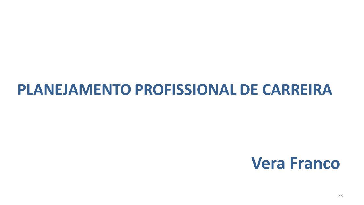 PLANEJAMENTO PROFISSIONAL DE CARREIRA Vera Franco 33