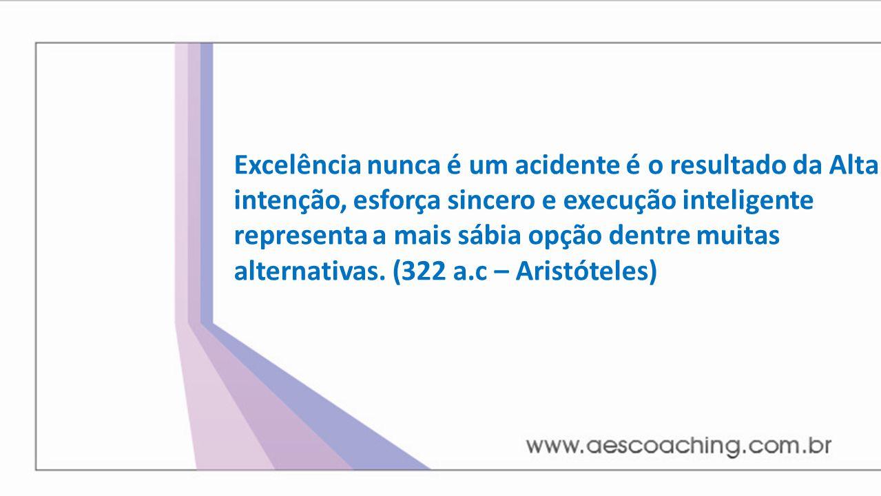 Excelência nunca é um acidente é o resultado da Alta intenção, esforça sincero e execução inteligente representa a mais sábia opção dentre muitas alte