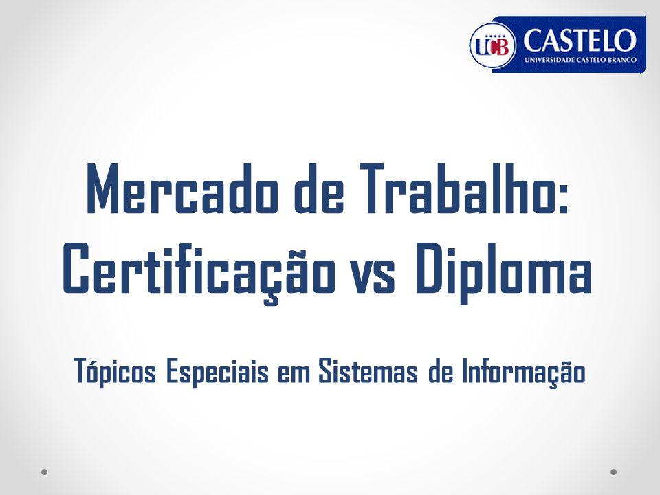 Mercado de Trabalho: Certificação vs Diploma Tópicos Especiais em Sistemas de Informação