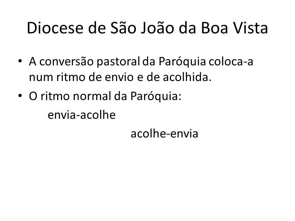 Diocese de São João da Boa Vista A conversão pastoral da Paróquia coloca-a num ritmo de envio e de acolhida.