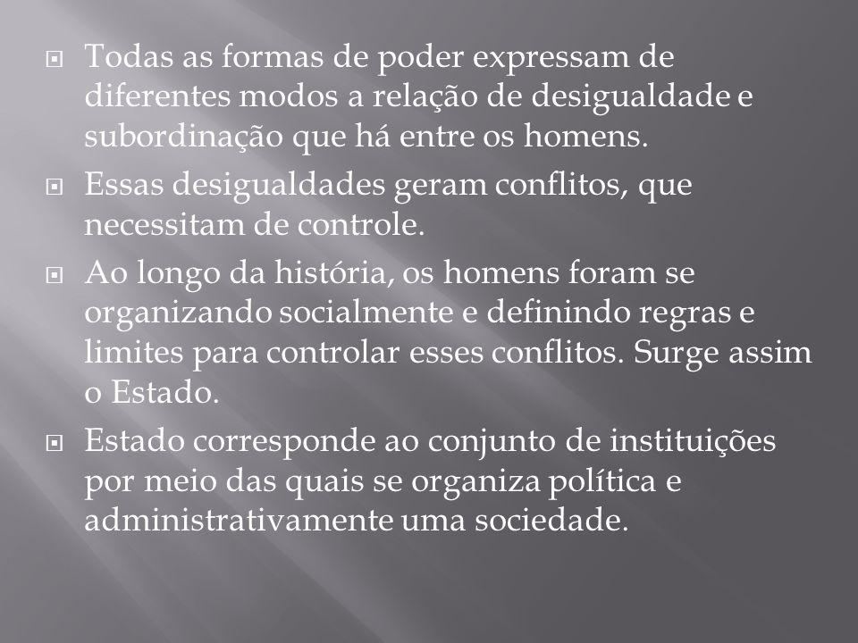  O Estado é composto de três elementos fundamentais: Um governo, um território e um povo.