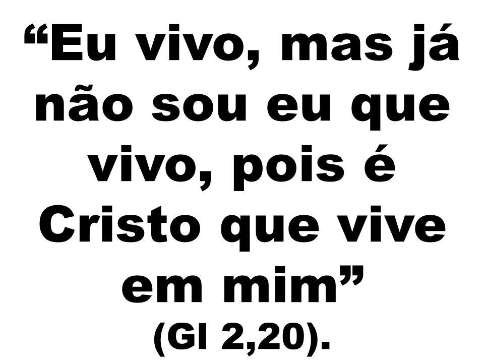 """""""Eu vivo, mas já não sou eu que vivo, pois é Cristo que vive em mim"""" (Gl 2,20)."""