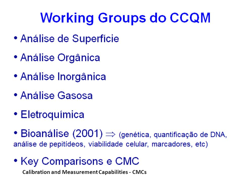 Calibration and Measurement Capabilities - CMCs
