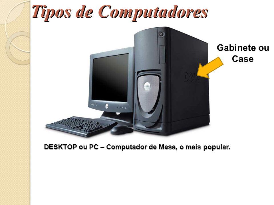 Tipos de Computadores Mainframe – Computador de Grande Porte, são máquinas multiprocessadas de altíssimo desempenho, empregadas como servidores de gra