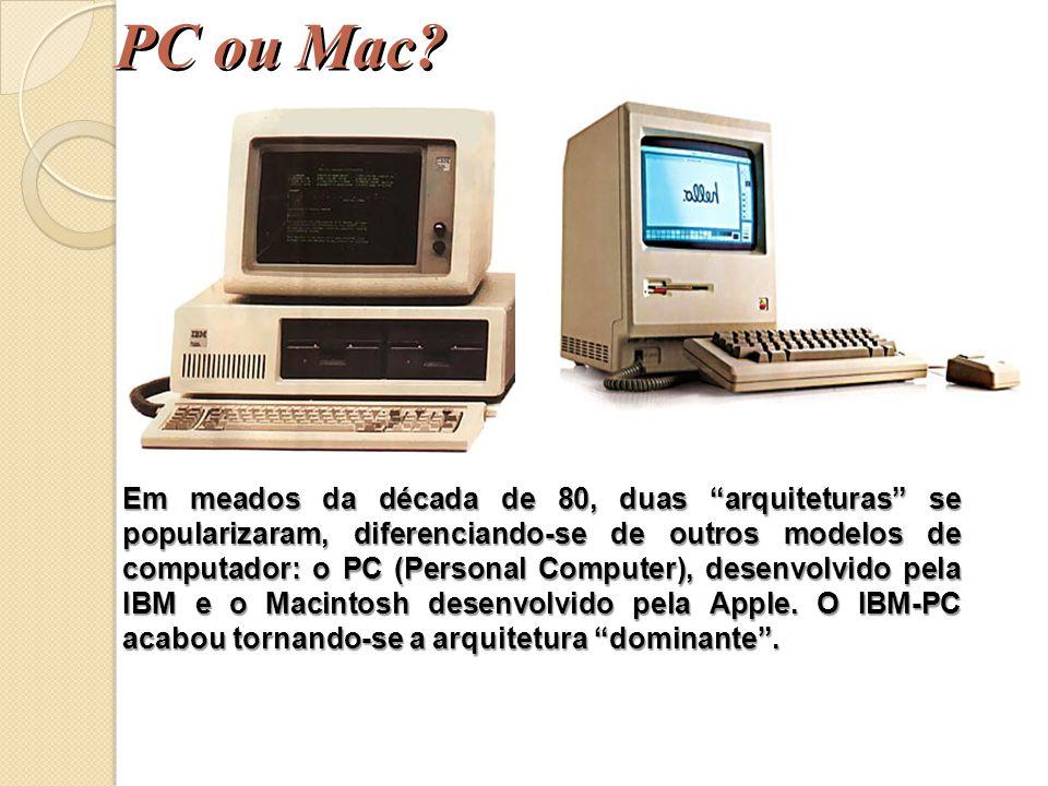 DESKTOP ou PC – Computador de Mesa, o mais popular. Tipos de Computadores Gabinete ou Case