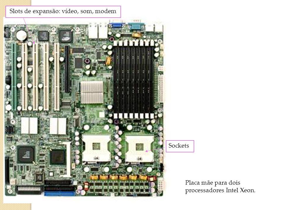Slot de expansão Um encaixe projetado para receber placas de expansão e conectá-las ao barramento de expansão do sistema. é um receptáculo que segura