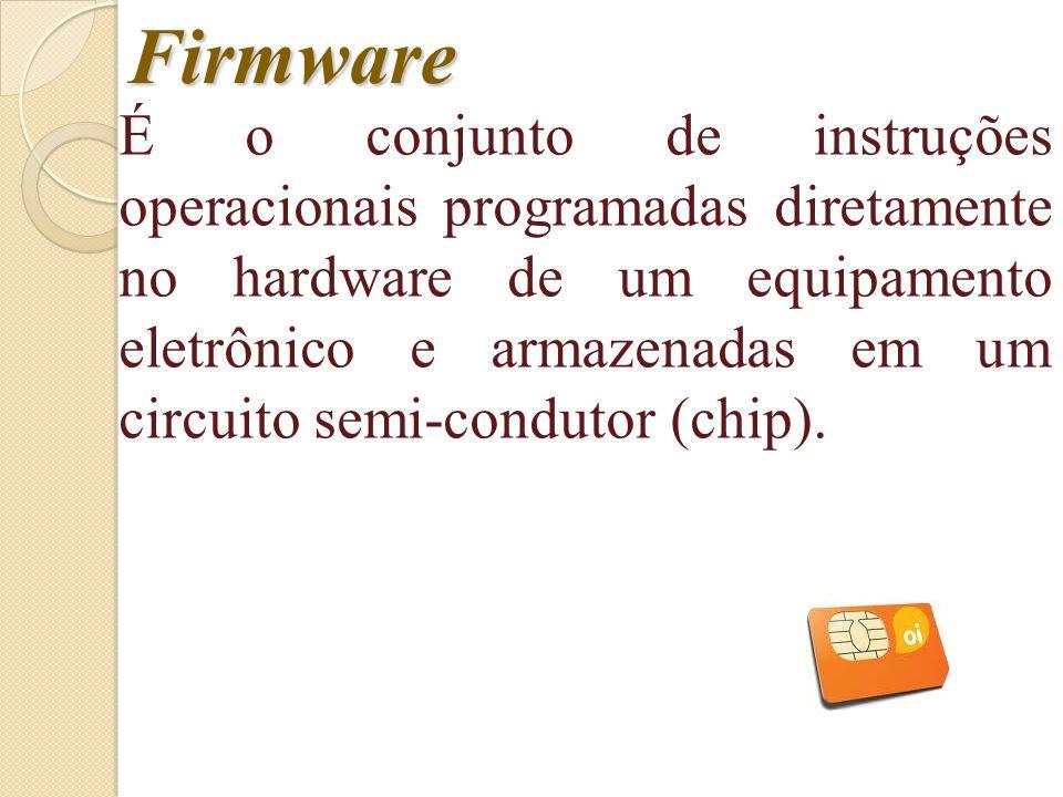 Hardware é a parte física do computadorSoftware é a parte Lógica. Componentes Funcionais