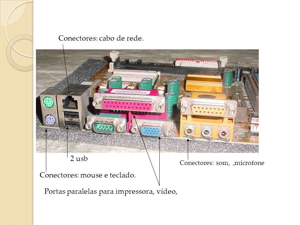 Placa Mãe para AMD - M810 LMR (mostrada em aula pela profa.) Traz rede e modem on board Bateria: alimentar a memória de configuração (CMOS) e alimenta