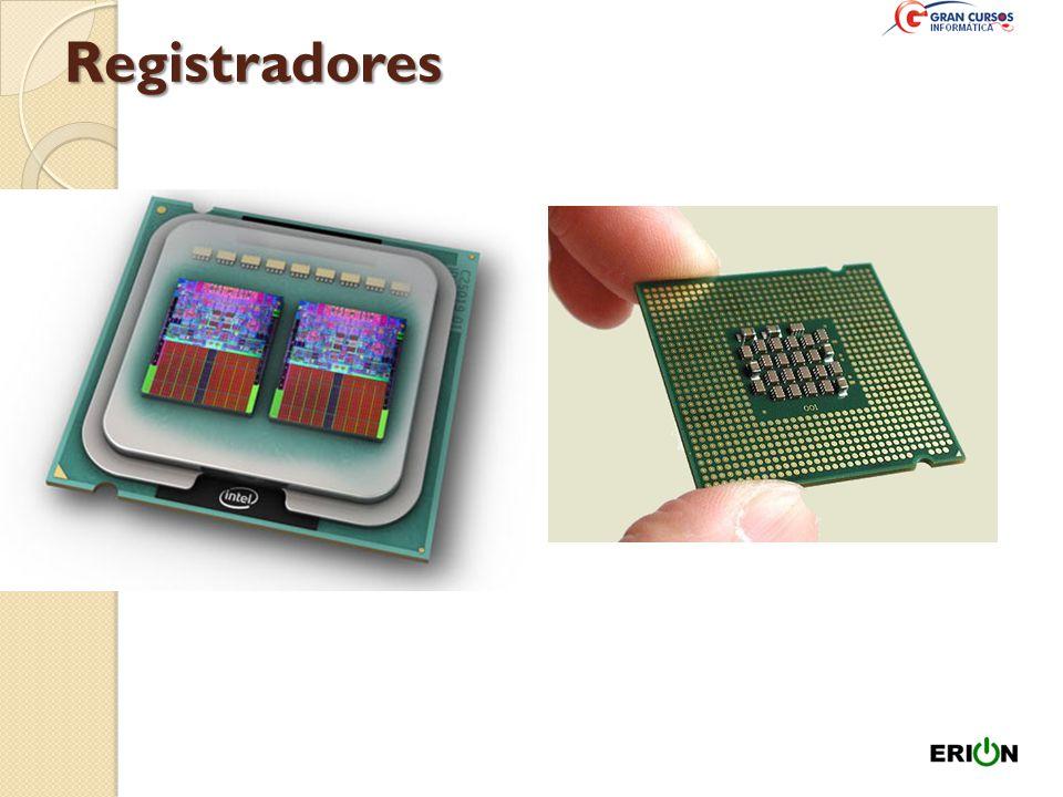 Registradores Memória de alta velocidade que permite o armazenamento de valores intermediários ou informação de comando. Os registradores definem o ta