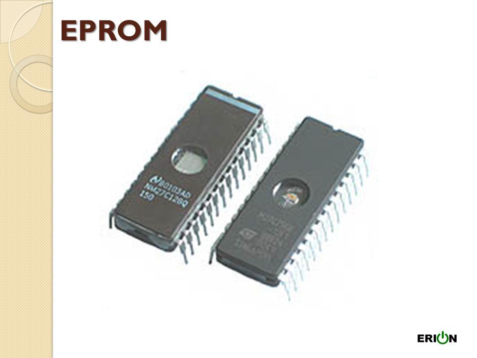 Tipos de ROM PROM – (Programmable ROM) podem ser escritas com dispositivos especiais mas não podem mais ser apagadas ou modificadas. EPROM – (Erasable