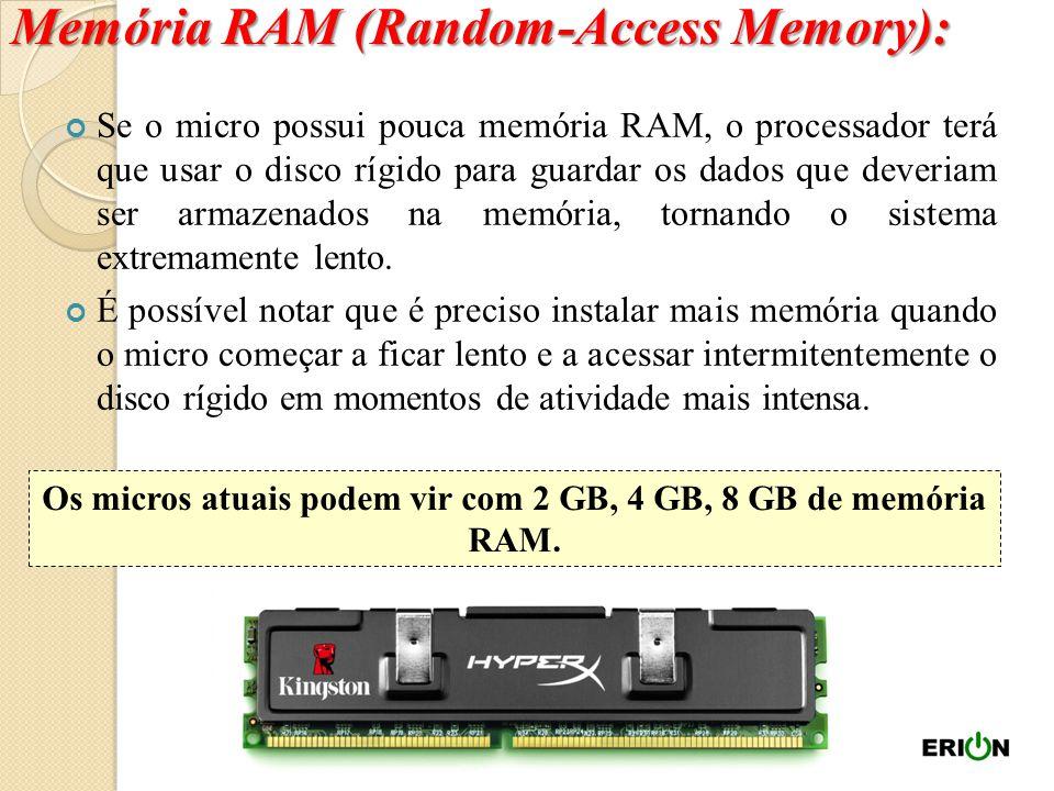 Memória de Acesso Aleatório, do inglês Random Access Memory. É usada pelo processador para armazenar os dados que estão sendo processados; É uma memór
