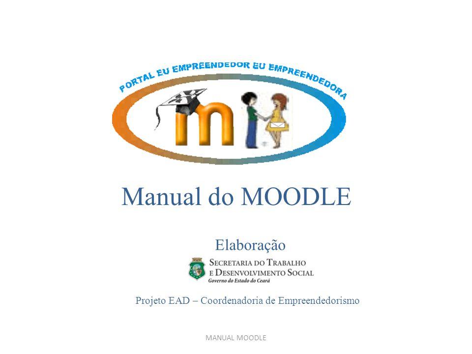 Manual do MOODLE Elaboração Projeto EAD – Coordenadoria de Empreendedorismo MANUAL MOODLE