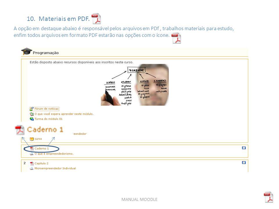 MANUAL MOODLE 10.Materiais em PDF.