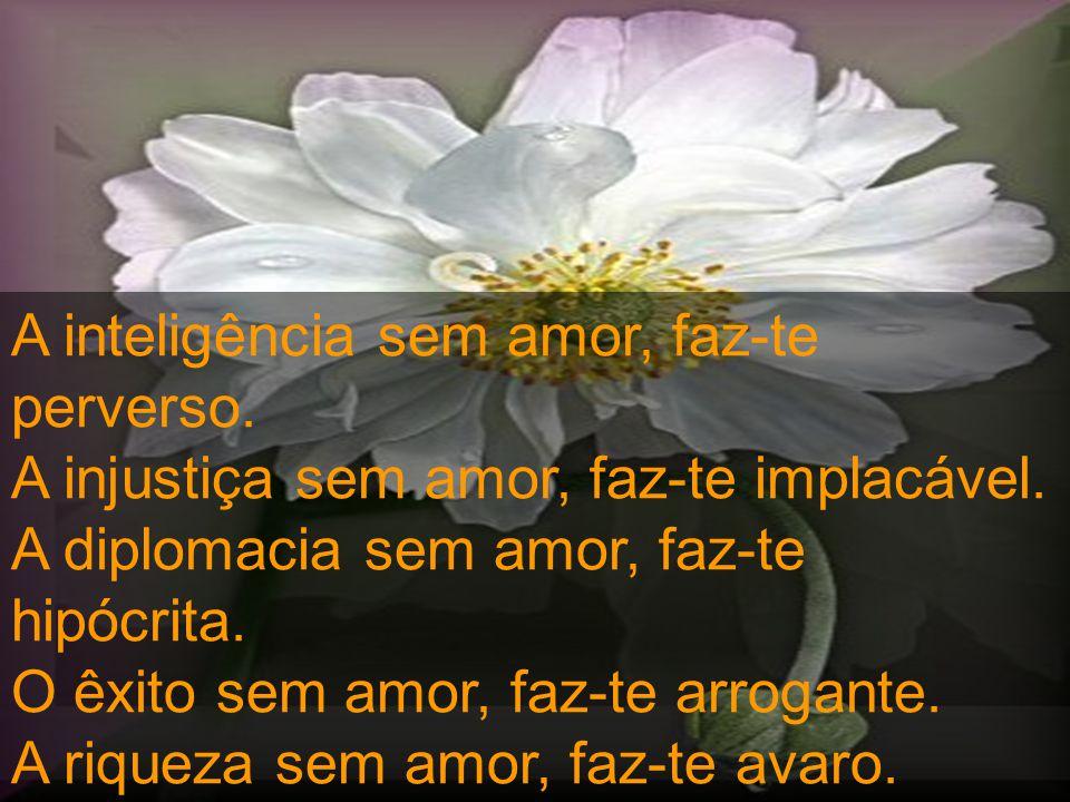 A inteligência sem amor, faz-te perverso.A injustiça sem amor, faz-te implacável.