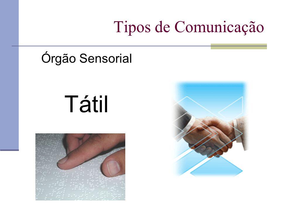 Tipos de Comunicação Órgão Sensorial Tátil