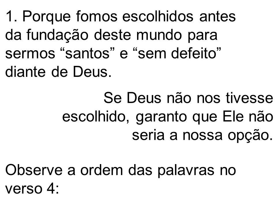 Para sermos dedicados, pertencendo somente a Ele, para agirmos a Seu favor e não para o nosso.