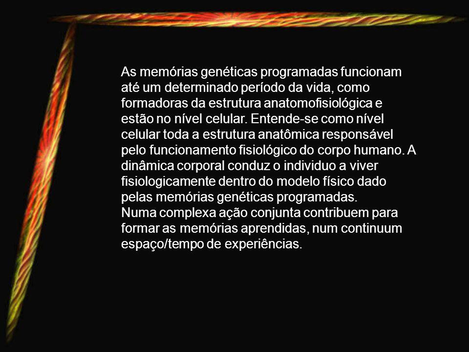 Após o nascimento a criança vive em função das memórias dadas pelas marcas mnêmicas transformadas em memórias genéticas programadas. Os estímulos próp