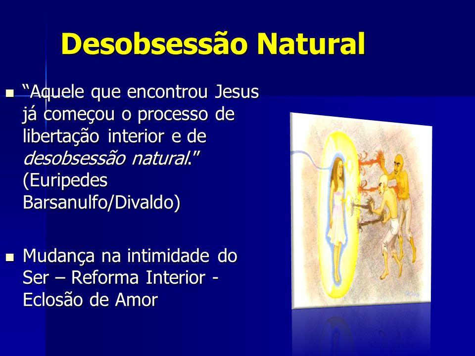 """Desobsessão Natural """"Aquele que encontrou Jesus já começou o processo de libertação interior e de desobsessão natural."""" (Euripedes Barsanulfo/Divaldo)"""
