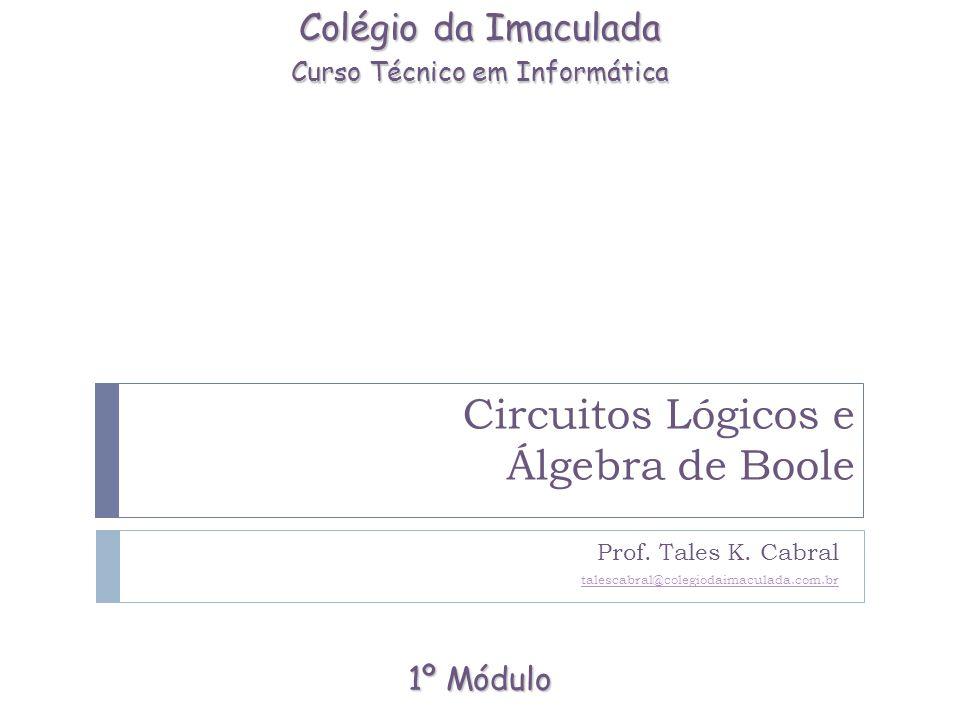 Álgebra de Boole (Álgebra Booleana) Slide 2 de 16.