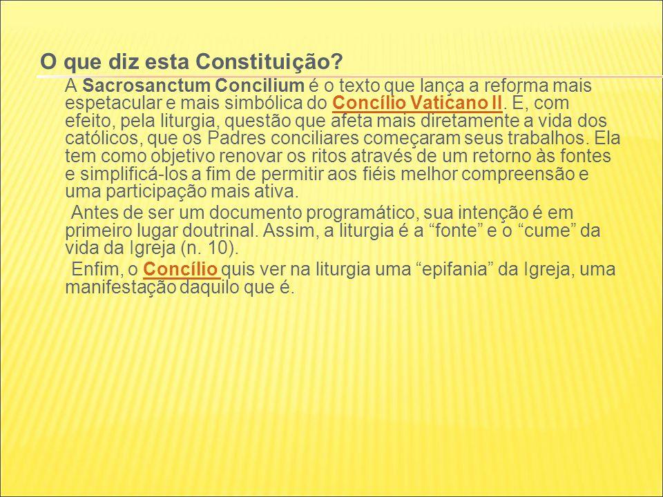 O que diz esta Constituição.