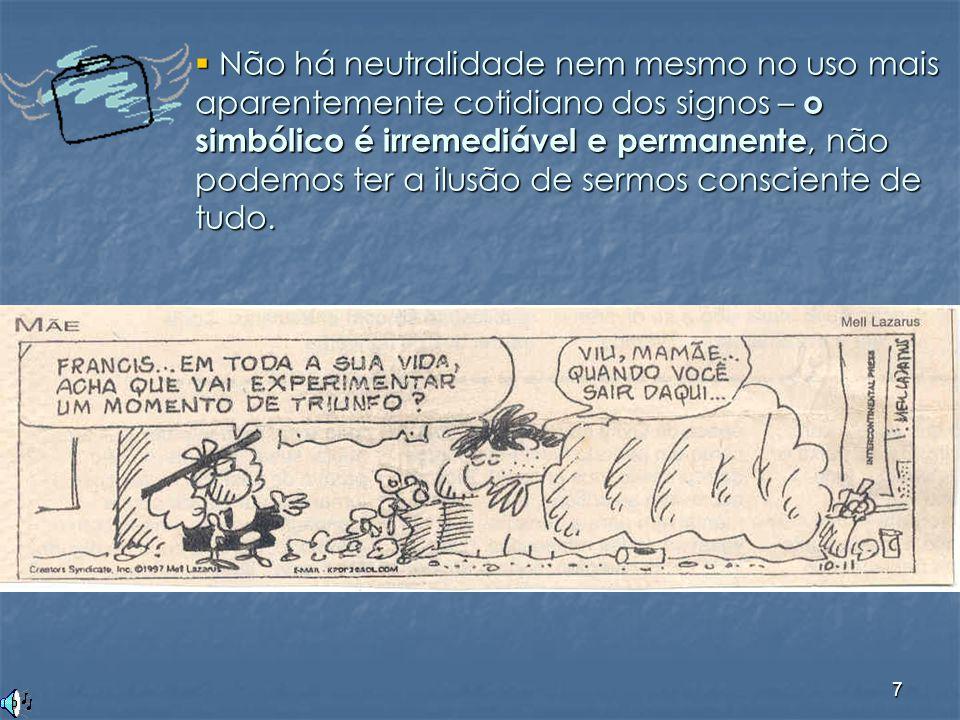 8  Há imprevisibilidade na relação do sujeito com o sentido (há interferência do inconsciente, da ideologia ).