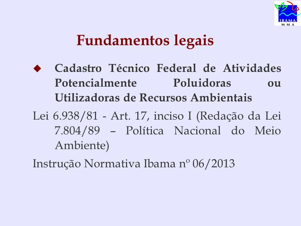 Obrigatoriedade - Cadastro Técnico Federal Lei nº 10165/2000 Art.