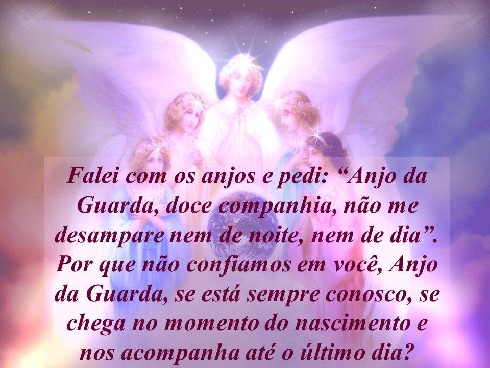 Falei com os anjos e pedi: Anjo da Guarda, doce companhia, não me desampare nem de noite, nem de dia .