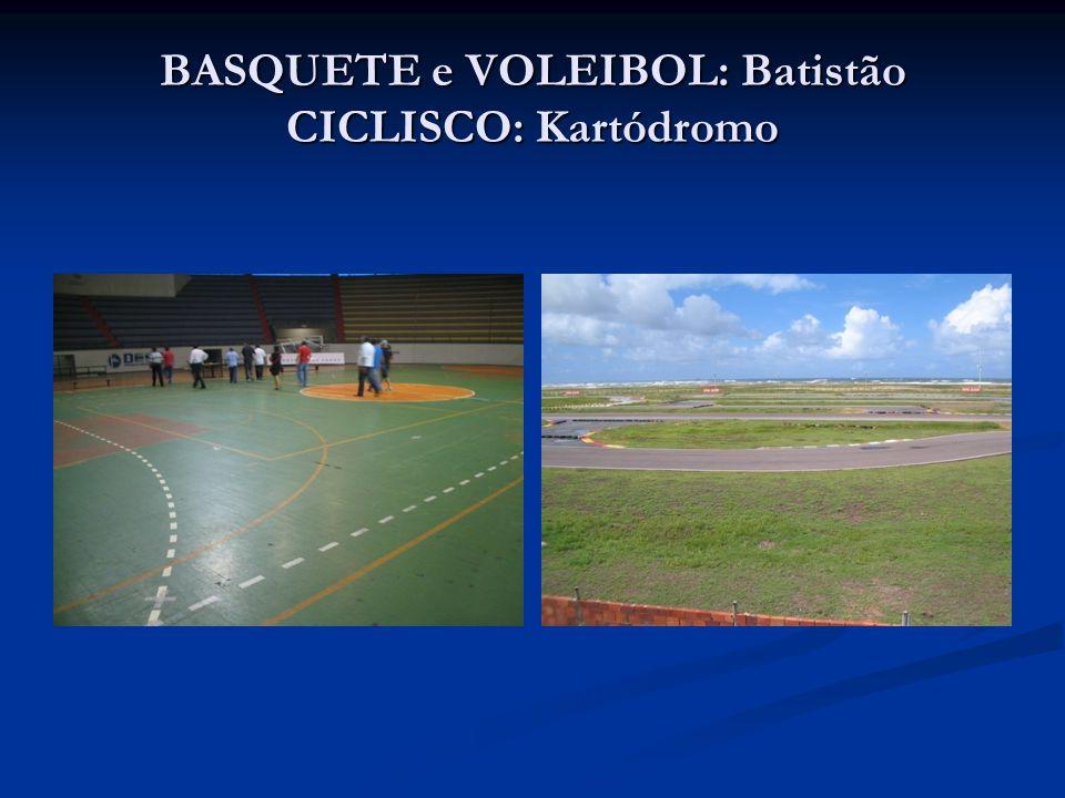 BASQUETE e VOLEIBOL: Batistão CICLISCO: Kartódromo