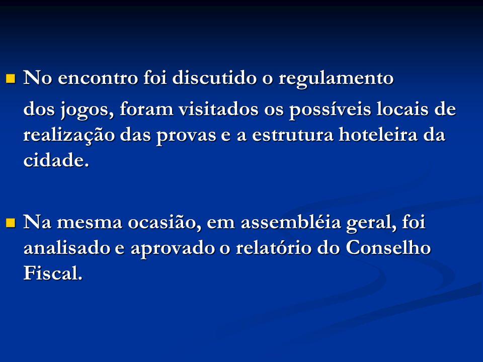 APRESENTAÇÃO DO REGULAMENTO DA PRÓXIMA OLIMPIADA.