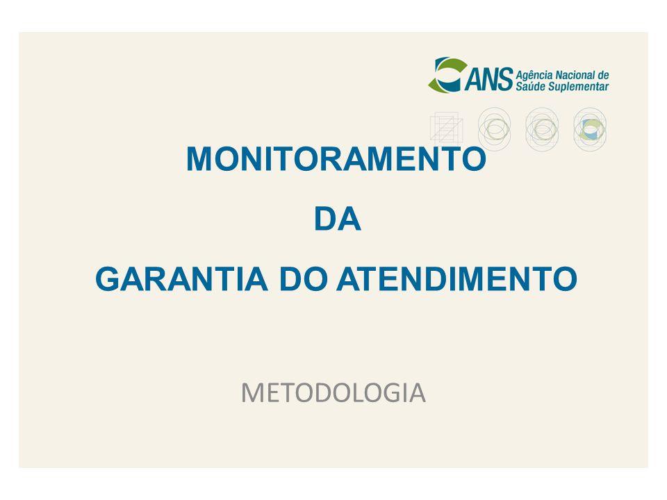 MONITORAMENTO DA GARANTIA DO ATENDIMENTO METODOLOGIA